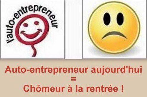 Auto-entrepreneur aujourd'hui = chômeur à la rentrée !