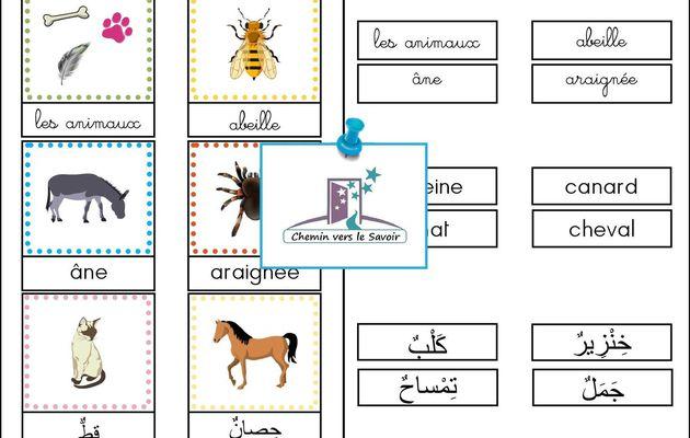 Cartes de Nomenclature - Les Animaux