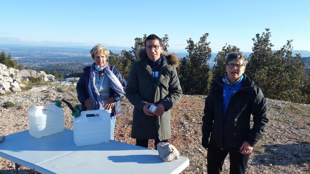 Mise en place des bénévoles en colline