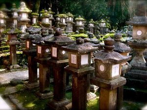 Préf. de Nara : Nara : Le sanctuaire des lanternes Kasuga-Taisha 春日大社 UNESCO