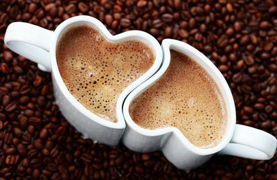 Café - Grain - Tasses - Coeurs - Amour - Photographie - Wallpaper - Free