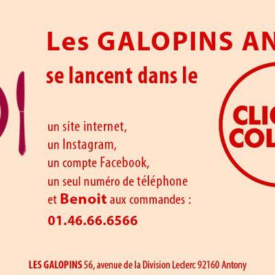 """Continuer à vous faire plaisir aux GALOPINS ANTONY grâce à son """"Click & Collect """""""