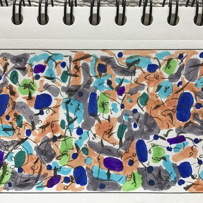Travail inspiré du processus créatif d'Elly van der Hoorn «Motifs abstraits»