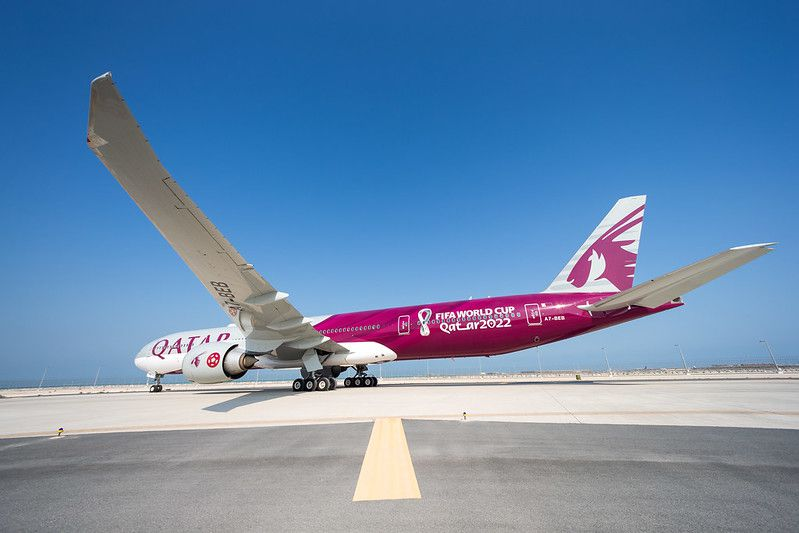 qatar airways b777 couleurs coupe monde football fifa aerobernie