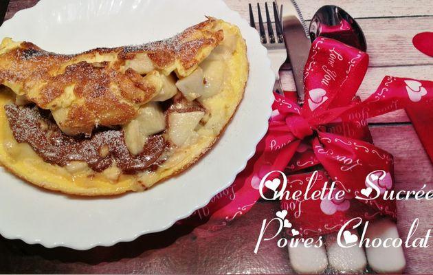 Omelette Sucrée Poire Chocolat 🍐🍫