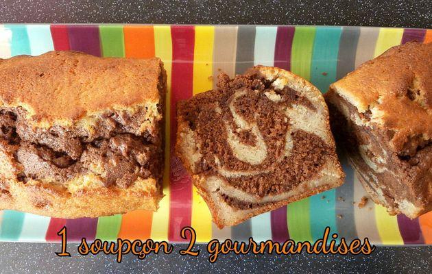 Cake Marbré Banane-Chocolat