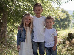 Mael , Laura et Tom séance campagne et studio en Bourgogne