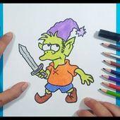 Como dibujar a Elfo paso a paso - Desencantado   How to draw Elfo - Disenchantment