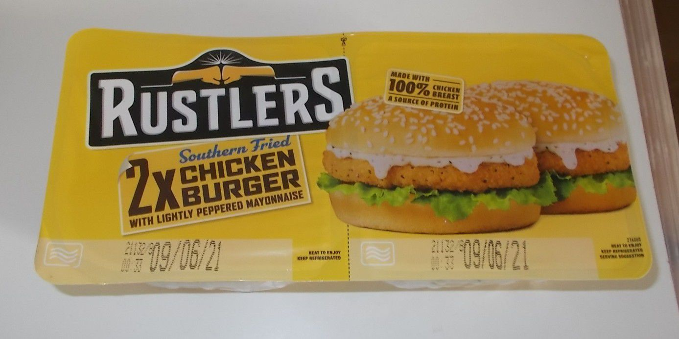 Rustlers Southern Fried 2x Chicken Burger