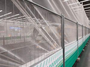 Les quais avec leurs filets transparents
