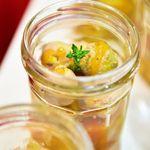 Foie gras aux billes de melon