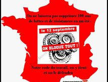 ON BOUGE LE 12 SEPTEMBRE