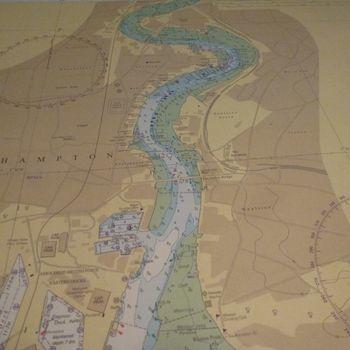 Cartes marines pour la navigation dans le port de SOUTHAMPTON