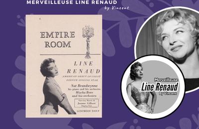 PRESSE: Line Renaud Chante à l'Empire Room, cabaret du Waldorf Astoria hôtel de New York en 1955