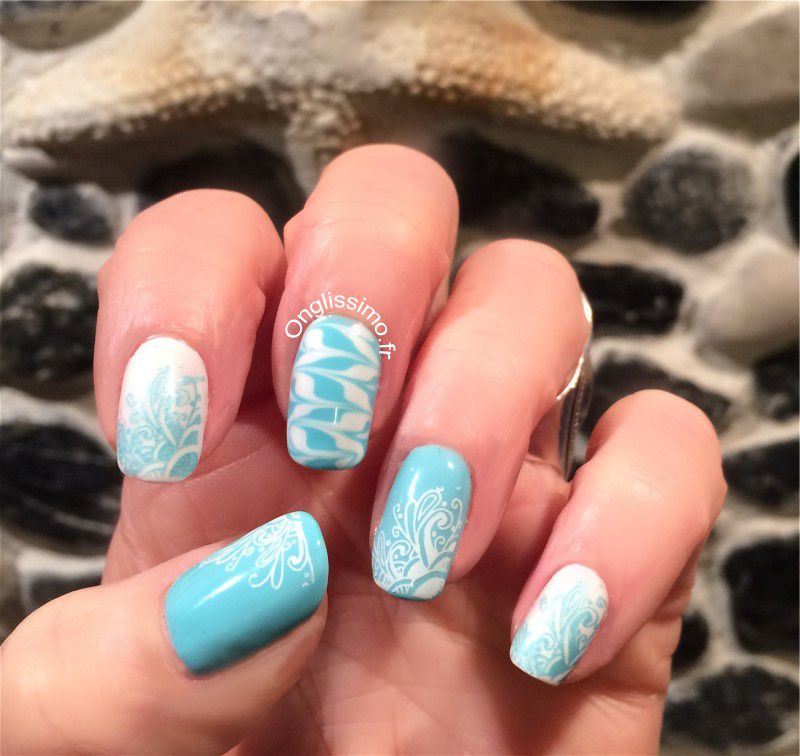 Nail art Water marble avec semi permanent