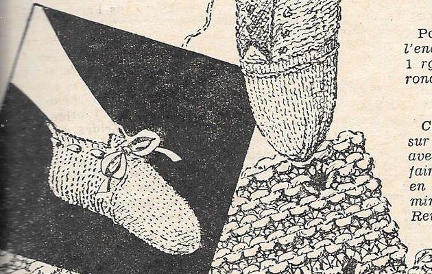 tricot : chaussons de nuit