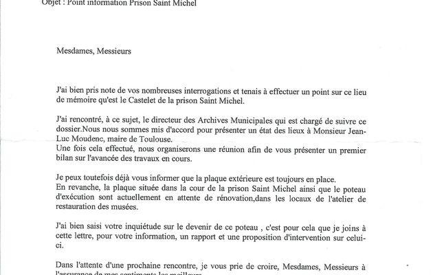 Point d'information sur le Castelet de la Prison St Michel