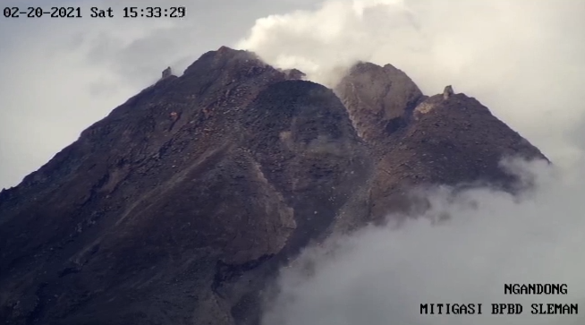 Merapi - the summit and the dome,  on 02.20.2021 / 3:33 p.m. - Doc. BPBD Sleman