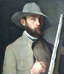 Charles Maurin. Autoportrait.