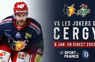 Grenoble / Cergy-Pontoise (Ligue Magnus) en direct vendredi sur Sport en France !