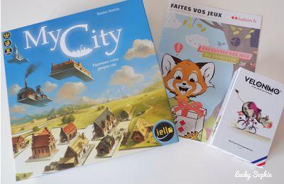 Velonimo et My City, jeux de société de la box Ludum