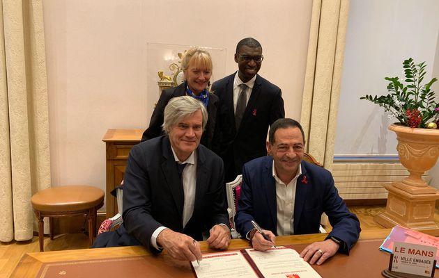 La ville du Mans signe la charte « Ville engagée contre le sida »