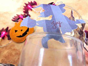 Décoration - Table - Halloween - 2018 - CM600 - Scan N Cut - Rond de serviette - Porte Nom - Sorcière - Chauve souris