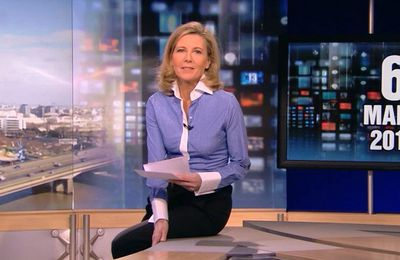Back to the futur avec Claire Chazal au look so business masculin du 06/03/2010