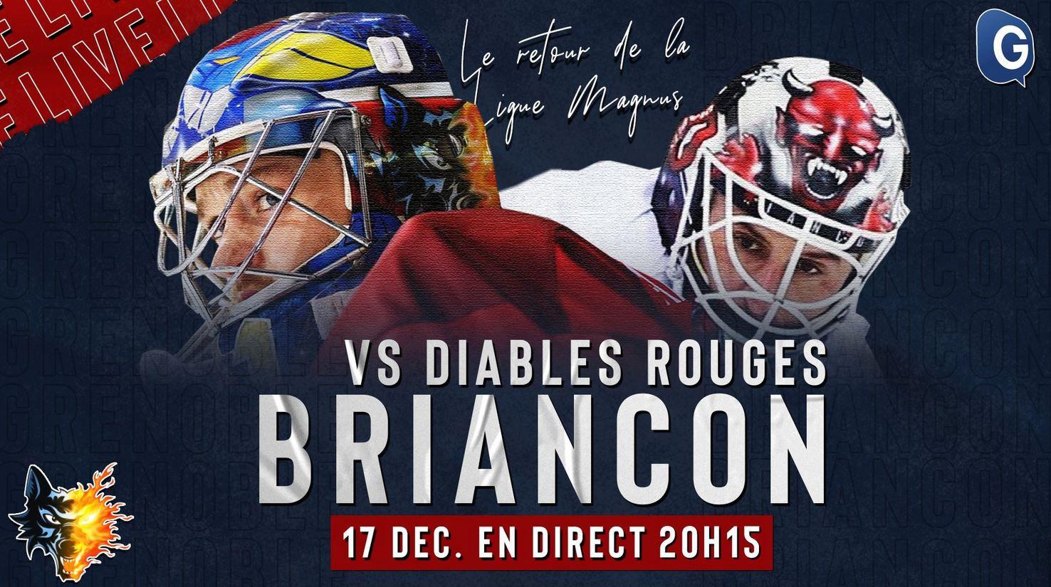 Grenoble / Briançon (Ligue Magnus) en direct jeudi sur TéléGrenoble !