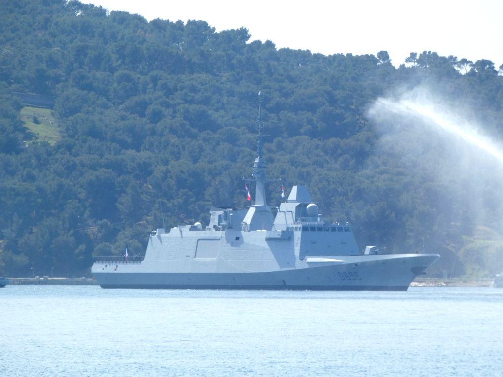 ALSACE  D656 , Frégate Européenne Multi -Missions  , de defense aérienne  (FREMM-DA ) arrivant a Toulon ,son nouveau port base le 02 avril 2021