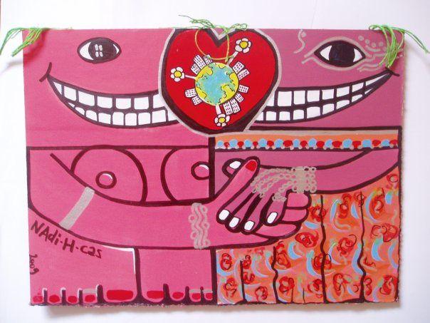Artiste Drouaise: Entre Toulouse et l'Afrique avec les femmes Fleurs