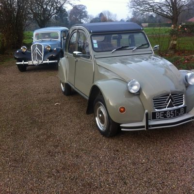 Traction 11 BL 1952 et 2cv 4 -