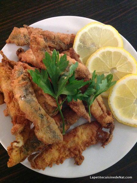 anchois frais en friture