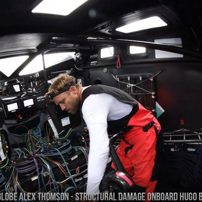 Vendee Globe 2020 Alex Thomson - structural damage onboard Hugo Boss