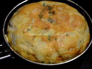 Tortilla de Patates Fourrée de Tomme de Chèvre et de Coppa