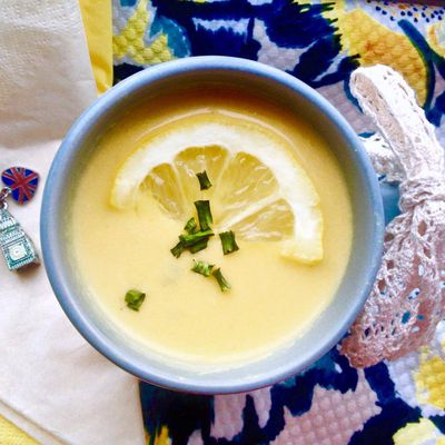 Old English Cream of Lemon Soup