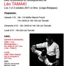 Léo Tamaki à Olne (Liège, Belgique), 1er au 3 octobre