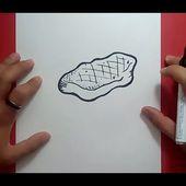 Como dibujar un filete paso a paso   How to draw a steak