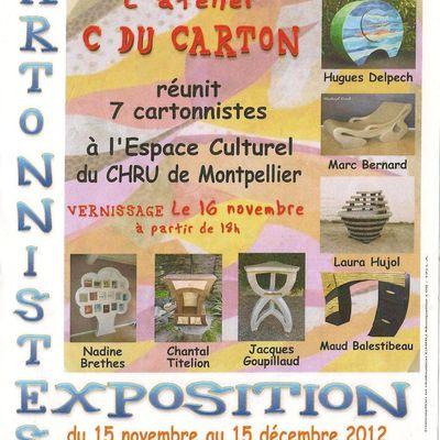 des cartonnistes exposent à Montpellier