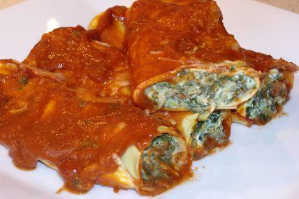Cannellonis Epinards et Ricotta