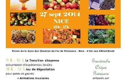 Marché Paysan à la Gare des Chemins de fer de Provence