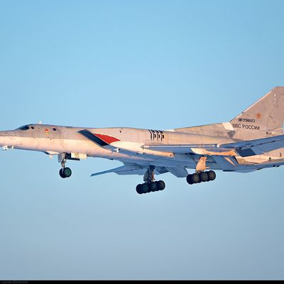 Tupolev Tu-22M3 (Backfire C - Red 57) - 183rd Naval Missile-carrying Aviation Regiment (183 MRAP) - Sharkmouth