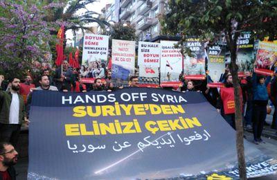 Manifestations communistes à travers le monde contre la guerre impérialiste en Syrie