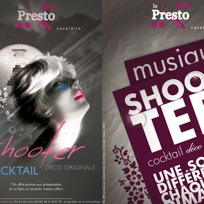 "Flyer promotionnel ""le presto"" Cavalaire"
