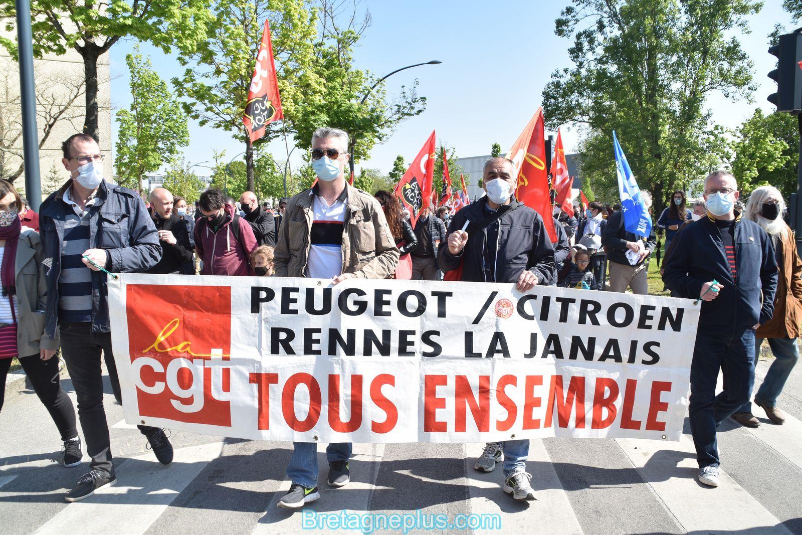 Défilé du 1er Mai Rennais 2021