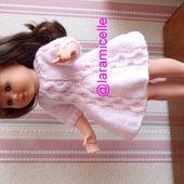 tuto gratuit poupée : robe douceur au col torsadé - Chez Laramicelle