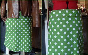 Les classiques jupe trapèzes à poches, sur mesures