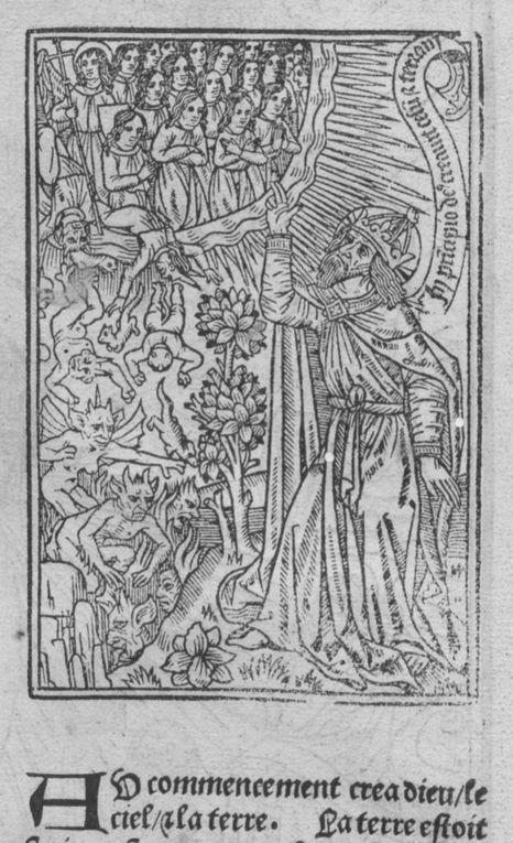 Diorama de 13 gravures sur bois de la Bible historiale imprimée, 1498-1499, Antoine Vérard, BnF Res. A. 270 Gallica