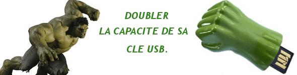 Doubler la capacité de sa clé USB.