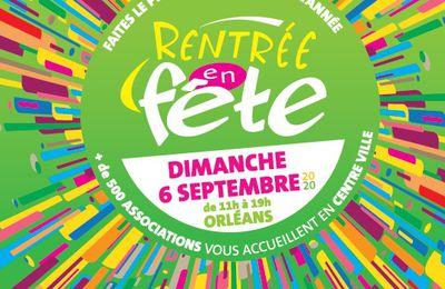 RENTRÉE EN FÊTE:  plus de 500 associations de tous types à ORLÉANS le dimanche 6 septembre